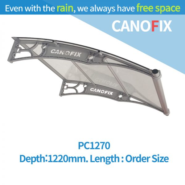 Window & Door awnings 1220mm(Depth) x Any Order Length Canofix Set