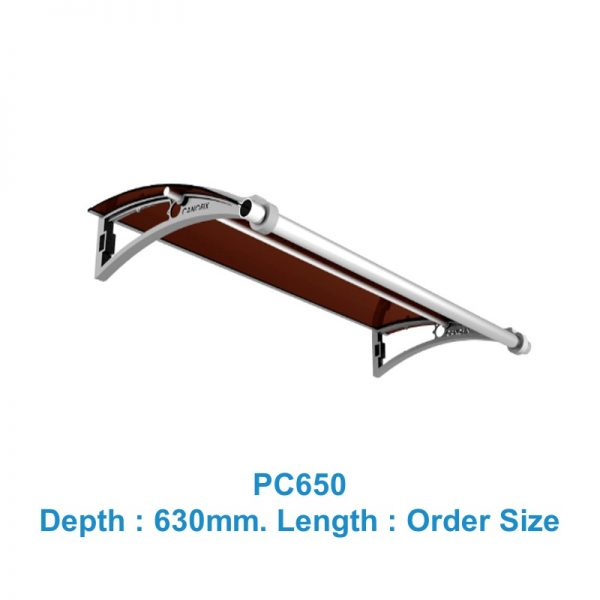 Window & Door awnings 630mm(Depth) x Any Order Length Canofix Set