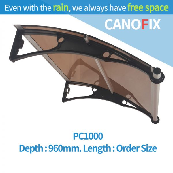 Window & Door awnings 960mm(Depth) x Any Order Length Canofix Set