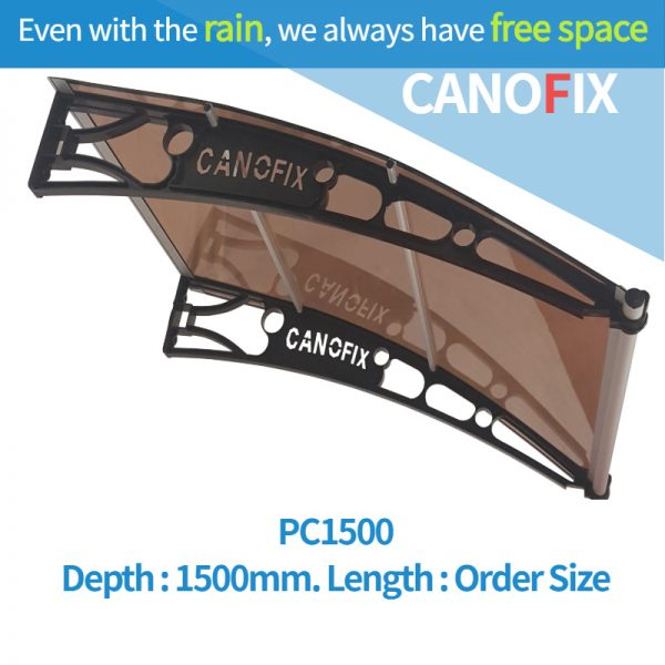 Window & Door awnings 1500mm(Depth) x Any Order Length Canofix Set